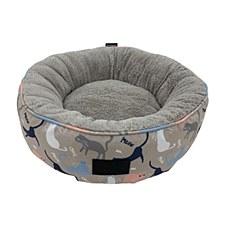 La Doggie Vita Catisse Print Donut Cat Bed