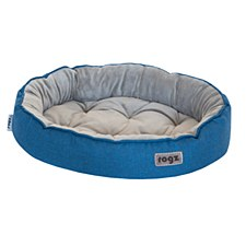 Rogz Cuddle Oval Pod Blue Small Dog Bed