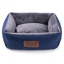 Rogz Knight Sofa Blue & Grey Medium Dog Bed