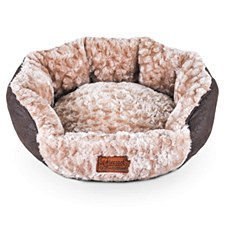 Rogz Volant Oval Brown Small Dog Bed