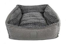 T&S ISleep Grey Plush Medium Dog Bed