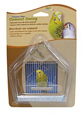 Penn Plax Cement Swing 4 inch for Parakeets and Small Birds