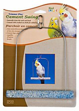 Penn Plax Cement Swing 7 inch for Cockatiels and Medium Birds