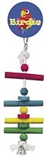 Birdie Four Level Perch with Bell Small Bird Toy