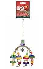 Birdie Rainbow Block Bridge Bird Toy