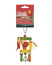 Birdie Rainbow Wicker Ball with Bell Bird Toy