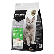 BlackHawk Chicken & Rice 3kg Dry Cat Food