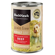 BlackHawk Adult Grain Free Beef 400g X 12 Wet Dog Food