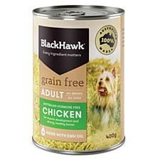 BlackHawk Adult Grain Free Chicken 400g X 12 Wet Dog Food