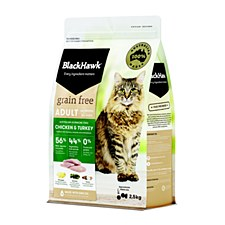 BlackHawk Adult Grain Free Chicken & Turkey 2.5kg Dry Cat Food