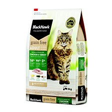 BlackHawk Adult Grain Free Chicken & Turkey 6kg Dry Cat Food