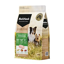 BlackHawk Adult Grain Free Chicken 2.5kg Dry Dog Food