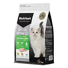 BlackHawk Kitten Chicken & Rice 3kg Dry Cat Food