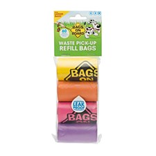 Bags On Board Dog Waste Bags Rainbow (4 Pack)