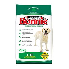 Bonnie Lite Low Fat Formula with Real Chicken 20kg Dry Dog Food