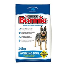 Bonnie Working Dog High Energy Formula with Real Kangaroo 20kg Dry Dog Food