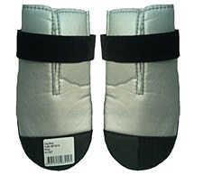 Dog Boots Nylon Size 4 Silver (2 Pack)
