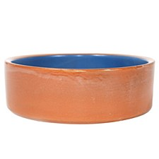 Ceramic Blue 9 inch Dog Bowl
