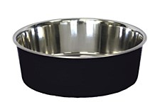 Pet Pacific Delisio Designer Stainless Steel Bowl Black 17cm