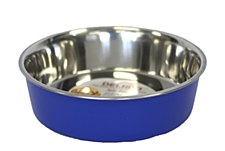 Pet Pacific Delisio Designer Stainless Steel Bowl Blue 17cm