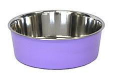 Pet Pacific Delisio Designer Stainless Steel Bowl Purple 17cm