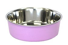 Pet Pacific Delisio Designer Stainless Steel Bowl Pink 23cm
