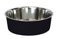Pet Pacific Delisio Designer Stainless Steel Bowl Black 25cm