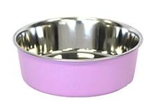 Pet Pacific Delisio Designer Stainless Steel Bowl Pink 25cm