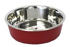 Pet Pacific Delisio Designer Stainless Steel Bowl Red 25cm