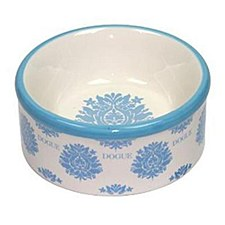 Dogue Pet Bowl Ceramic Fleur Blue Small
