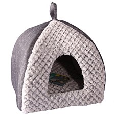 Pet One Plush Cat Cave Grey