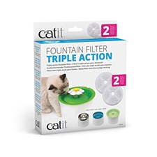 Catit Flower Water Drinking Fountain Triple Action Filters (2 Pack)
