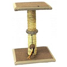 PaWise Seagrass with Platform & Play Toy Cat Scratching Post