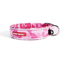 EzyDog Dog Collar Classic Large Pink Camouflage