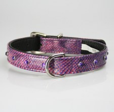 Petlife Dog Collar with Jewels Extra Large 60cm Purple Pattern