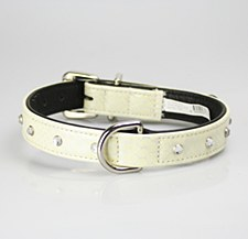 Petlife Dog Collar with Jewels XX Large 67cm Snow White