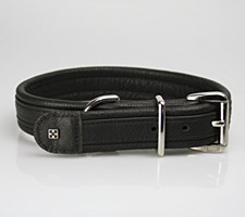 Petlife Dog Collar Leather Extra Small 30cm Black