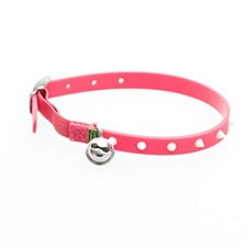 Gummi Cat Collar Spike Pink