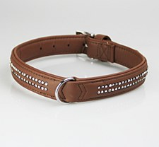 Dog Collar Gem Buffalo Large Chocolate