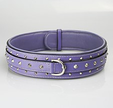 Dog Collar Overlocked XX Large Purple