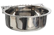 Show Master Coop Cup Stainless Steel Bolt On 10 ounce Bird Feeder