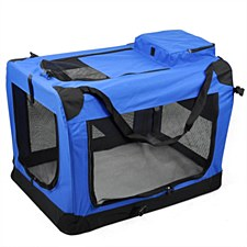 Pet Crate Soft 50cm x 35cm x 35cm Small Blue