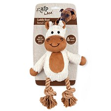 All For Paws Cuddle Dental Horse with Rope Dog Toy