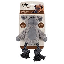 All For Paws Cuddle Dental Sheep with Rope Dog Toy