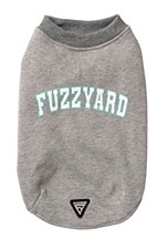 FuzzYard Dog Coat College Melange Grey Size 2