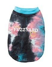 FuzzYard Dog Coat Smiley Tie-rus Sweater Blue/Multi Size 6