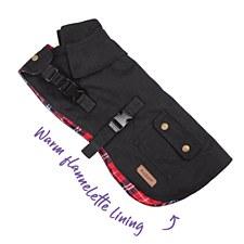 Kazoo Dog Coat Aussie Oilskin Black 66cm