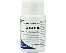 Direa Antidiarrhoeal Tablets for Dogs and Cats 1000mg (10 Tablets)