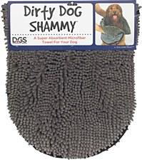 Dirty Dog Shammy Grey 35cm x 80cm