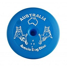 Aussie Dog Fly... It Disc Floppy Blue Dog Toy